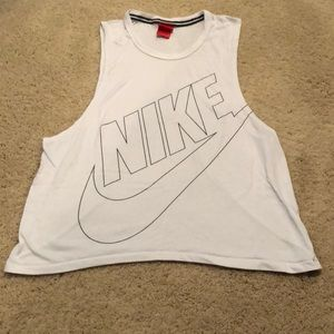 White Nike muscle tank in good condition